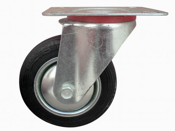 Regular Castor Wheel With Rubber Tyre dixc,
